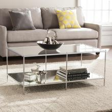 Knox Glam Mirrored Cocktail Table - Chrome