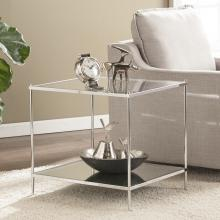 Knox Glam Mirrored End Table - Chrome