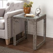 Akola Woven End Table