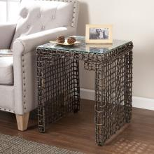 Loni Woven End Table