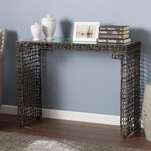 Loni Woven Console Table