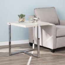Evander Faux Stone End Table