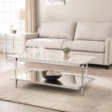 Corine Faux Marble Cocktail Table