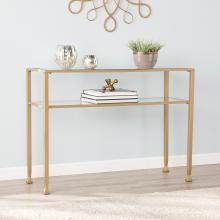 Jaymes Gold Metal and Glass Console Table