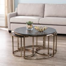 Lachlan Round Nesting Coffee Tables - 3pc Set