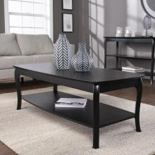 Ava Rectangular Cocktail Table - Black