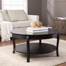 Ava Round Cocktail Table - Black