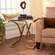 Vogue End Table - Champagne Brass