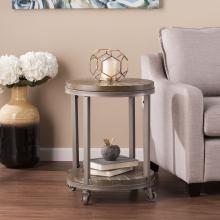 Konya Urban Industrial Round End Table