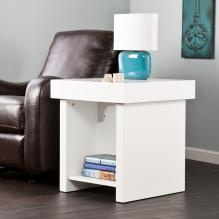 Holly & Martin Glidick Slide-Top End Table - White