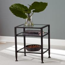 Metal End Table - Black