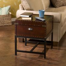 Voyager Storage End Table - Espresso