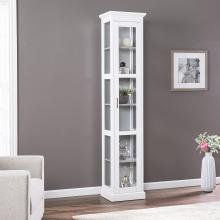 Balterley Tall Curio w/ Glass Door - White