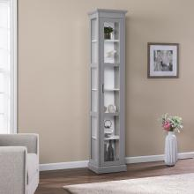 Balterley Tall Curio w/ Glass Door - Gray