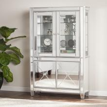 Mirage Mirrored Lighted Curio Cabinet