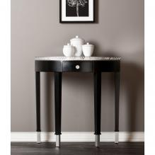 Starling Mirrored Demilune Table