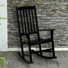 Hardwood Porch Rocker - Black