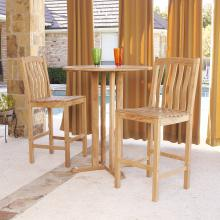 3 Pcs Teak Bar Set