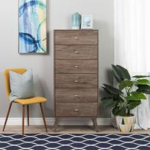 Milo MCM Tall 6-drawer Chest - Drifted Gray