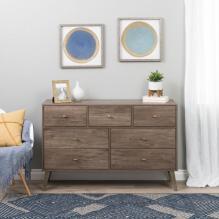 Milo 7-drawer Dresser, Drifted Gray
