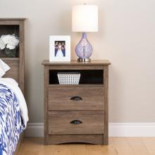 Salt Spring Tall Night Stand, Drifted Gray