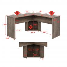 L-shaped Desk, Drifted Gray
