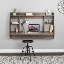 Wide Floating Desk, Drifted Gray