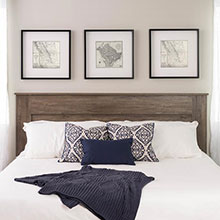 King Flat Panel Headboard, Drifted Gray