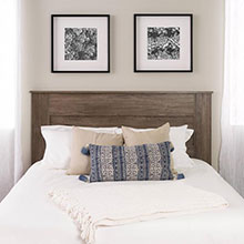 Queen Flat Panel Headboard, Drifted Gray