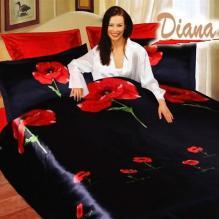 Diana Weasel Black, Duvet Cover Bed In Bag, Queen Bedding Set