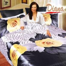 Diana Yellow Rose, Duvet Cover Bed In Bag, Queen Bedding Set
