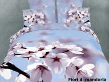 Cotton Floral Duvet Cover Set, Fiori di mandorla Dolce Mela