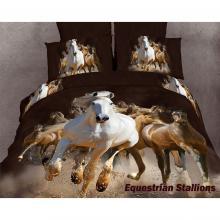 Equestrian Stallions, Duvet Cover Egyptian Cotton Luxury Bedding