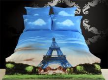 Eiffel Tower, Duvet Cover Egyptian Cotton Luxury Bedding