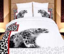 White Cheetahs, Duvet Cover Egyptian Cotton Luxury Bedding