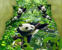 Cute Panda, Duvet Cover Egyptian Cotton Luxury Bedding