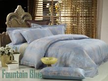 Egyptian Cotton Duvet Cover Set, Fountain-Blue, DM448Q