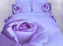 Midnight Rose Floral Print Bedding Duvet Cover Sheet Set