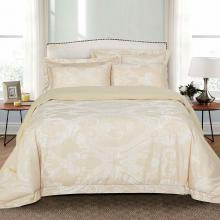 Jacquard King Duvet Cover Set Fitted Sheet Bedding | Dolce Mela DM503K