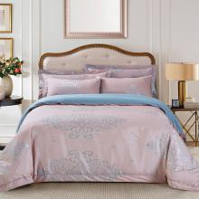 Jacquard King Duvet Cover Set Fitted Sheet Bedding | Dolce Mela DM504K