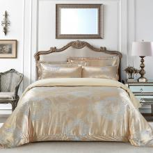 Jacquard King Duvet Cover Set Fitted Sheet Bedding | Dolce Mela DM506K