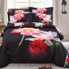 Floral King Duvet Cover Set Fitted Bedding | Dolce Mela DM509K