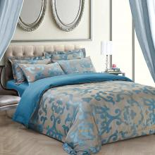 Jacquard King Duvet Cover Set Fitted Bedding | Dolce Mela DM513K