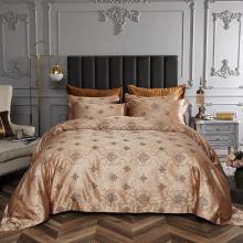 King Size Duvet Cover Set, 6 Piece Luxury Jacquard Bedding, Dolce Mela Los Angeles  DM719K