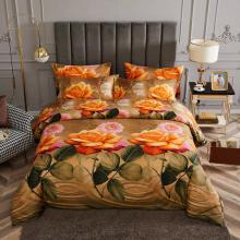 King Size Duvet Cover Set, 6 Piece Luxury Floral Bedding, Dolce Mela Eden  DM721K