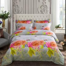 King Size Duvet Cover Set, 6 Piece Luxury Floral Bedding, Dolce Mela  Innocence  DM723K