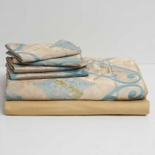 DM804K   King Size Duvet Cover Set Jacquard Top & 100% Cotton Inside