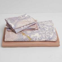 DM805Q   Queen Size Duvet Cover Set Jacquard Top & 100% Cotton Inside