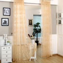 Dolce Mela - Larissa - Sheer Curtain Panel - Gold