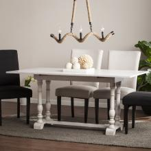Edenderry Farmhouse Folding Trestle Console to Dining Table